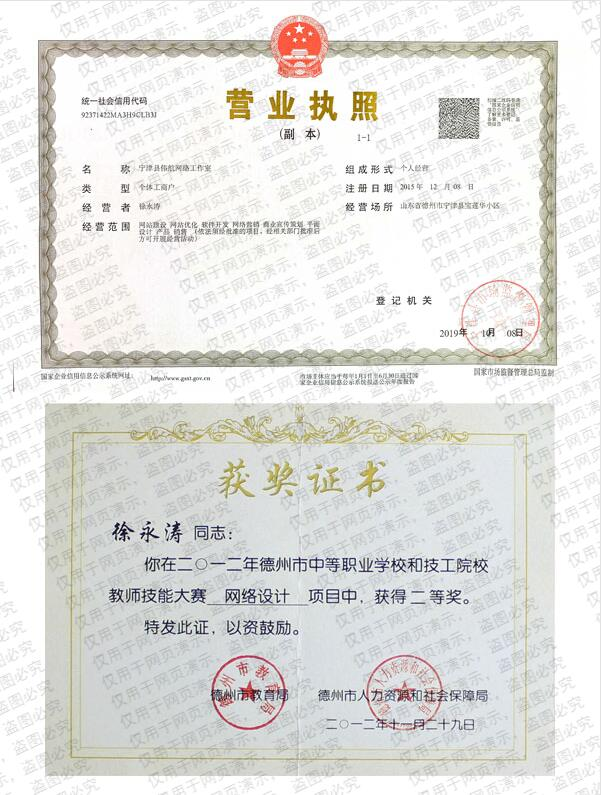 伟航网络公司营业执照